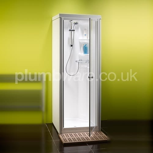 Exposed push button shower commercial exposed shower - Stall showers small spaces photos ...