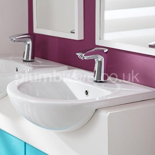 Semi Recessed Wash Hand Basin