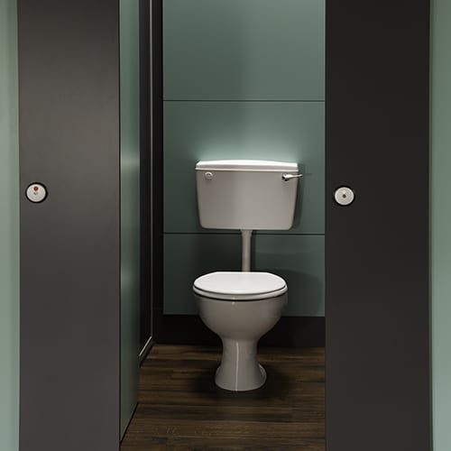 Cubicle WC Pack Exposed Cistern