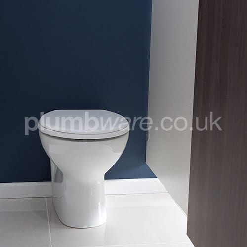 back-to-wall toilet pan