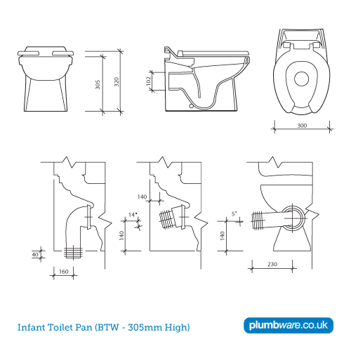 Adult Junior And Infant Low Level Toilet Pans Plumbware