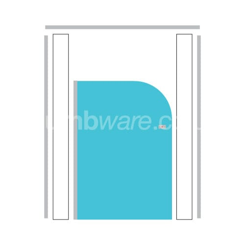 Blueberry Cubicle Door - Pendle Junior