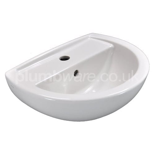 Wall sink 1 tap hole