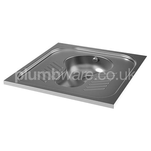 Stainless Steel Squat WC Pan